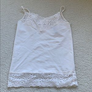 Ann Taylor lace trimmed camisole small petite